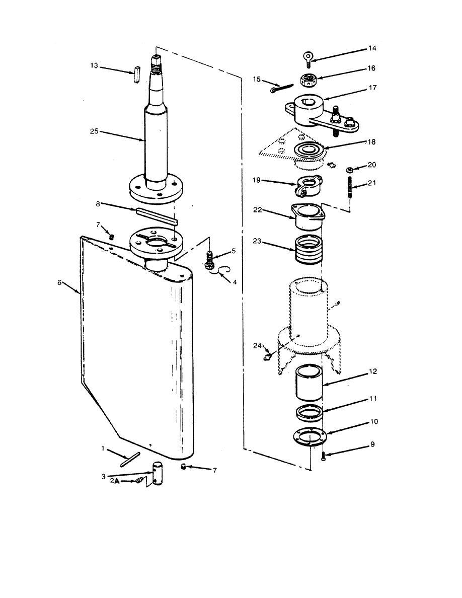 Figure 277. Main Rudder Stock Arrangement. - TM-55-1905-219-20P-10593